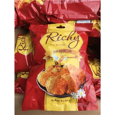 Bịch bánh gạo mật ong RICHY 186G - Date: 05/2020