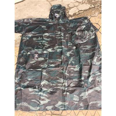 Áo Mưa Vải Dù Không Xẻ Tà (Bít Sườn) Màu RẰN RI - Kt: (130 x 100) cm