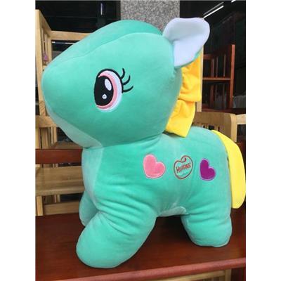 XANH: Ngựa Pony (Huggies) Nhồi Bông Cỡ Lớn Siêu Mềm Mịn - Kt: (50 x 40 x 20) cm