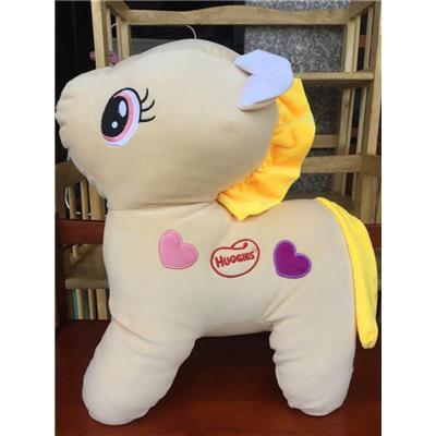NÂU NHẠT: Ngựa Pony (Huggies) Nhồi Bông Cỡ Lớn Siêu Mềm Mịn - Kt: (50 x 40 x 20) cm