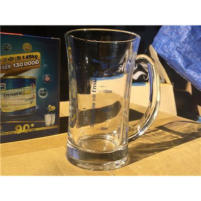 Ly Quai Thủy Tinh Ocean Có Vạch Chia Dung Tích (280ml) - Sữa Ensure Tặng