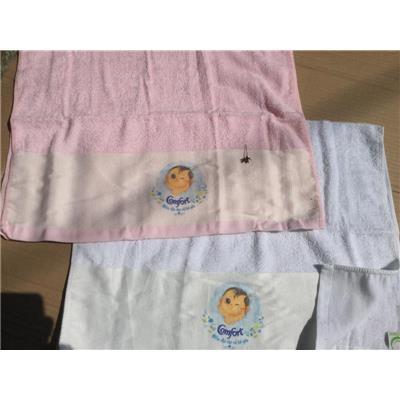 Khăn Comfort Màu HỒNG Có Hình Em Bé - Kt: (80 x 50) cm