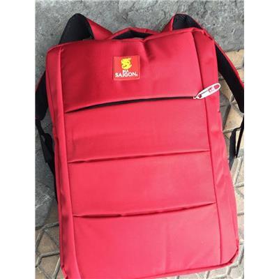Balo BIA SÀI GÒN Màu Đỏ Nhiều Ngăn, Có Ngăn Đựng Laptop Chống Sốc - Kt: (42 x 30 x 10) cm