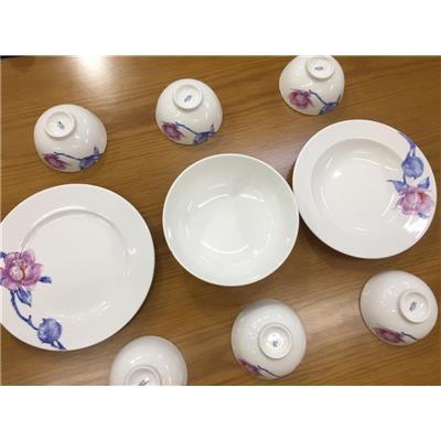 (KHÔNG SỈ) Bộ Bàn ăn Minh Long JASMINE TRÀ MI Men Ngà 9 Sản Phẩm - Unilever Tặng KHÔNG CÓ LOGO QUẢNG CÁO