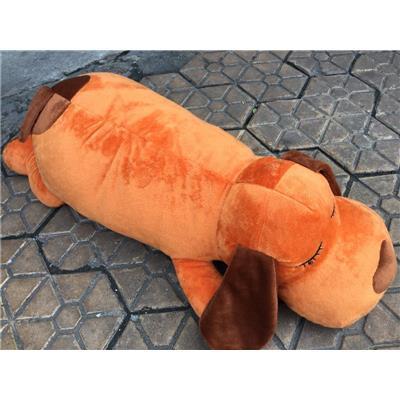 Chó Nâu Nhồi Bông UniDry Nằm Ngủ Dài 50cm