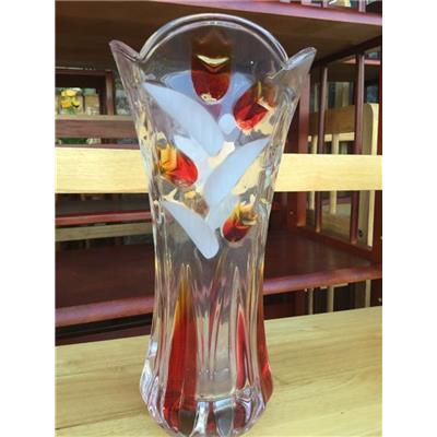 Bình Cắm Bông Thủy Tinh MÀU Miệng Loe Cao 25 cm, BÌNH LỚN Thích Hợp Cắm Hoa Ly, Huệ, Lay Ơn...(HỘP CÔ GÁI)