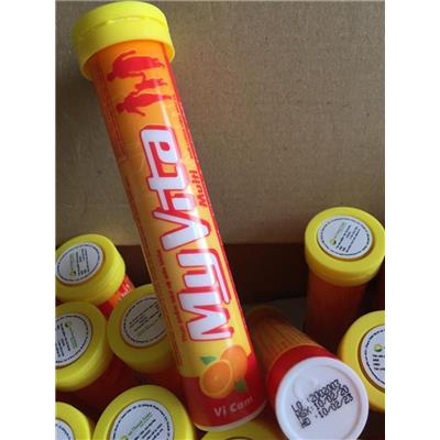 Ống 20 Viên Sủi Bổ Sung Vitamin & Khoáng Chất MyVita VỊ CAM - Date: 2023