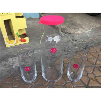 Bộ 1 Bình + 2 Ly Thủy Tinh LAV THỔ NHĨ KỲ - Unilever Tặng