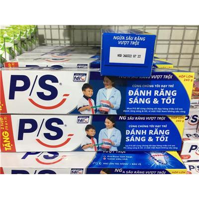"""Kem Đánh Răng P/S """"Ngừa Sâu Răng Vượt Trội"""" 240g - Date: 2022"""