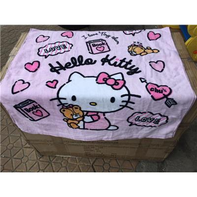 Màu Hồng: Khăn Tắm Cỡ Lớn Hoạt Hình Hello Kitty - Kích Thước: (120 x 60) cm