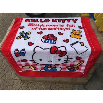 Màu Đỏ: Khăn Tắm Cỡ Lớn Hoạt Hình Hello Kitty - Kích Thước: (120 x 60) cm