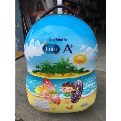 """Vali Kéo Nhựa Enfa """"Du Lịch Biển"""" Cho Bé - Kt: (45 x 30 x 23) cm"""