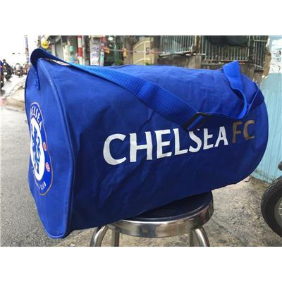 (XANH) Túi Trống Du Lịch Singha Chelsea FC 1 Ngăn Chống Ướt - Kt: (50 x 32 x 32) cm
