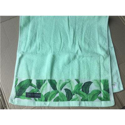 Khăn Lông Tresemme Màu XANH In Hình Lá - Kt: (120 x 60) cm