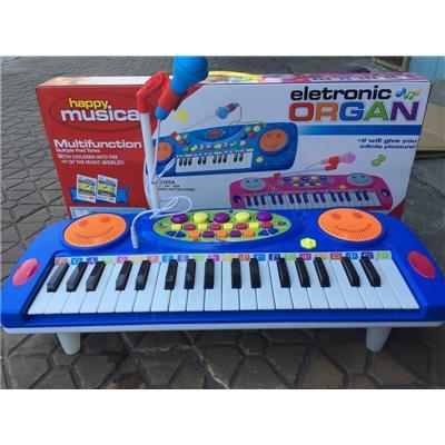 Đồ Chơi Đàn Organ 37 Phím Cho Bé, Dùng Pin, Có Micro (MS: 3702A) - Kt: (46.5 x 18 x 4.8) cm - KÈM 4 PIN