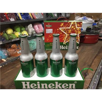 Hộp 4 Chai Nhôm Bia Heineken Nhập Khẩu Từ Hà Lan - Dt: 330ml/ Chai