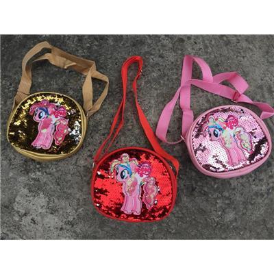Túi Điệu Ngựa Pony Đính Kim Sa Cho Bé - Kt: (18 x 15 x 6) cm