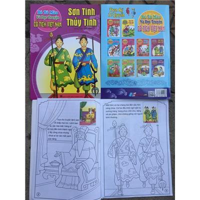 Truyện Cổ Tích Tô Màu SƠN TINH THỦY TINH 16 Trang - Kt: (19 x 26) cm
