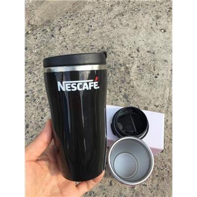 ĐEN: Ly giữ Nhiệt Nescafe Nhỏ Xinh Dung Tích 250ml - Kt: (14.5 x 7.5 x 5.5) cm