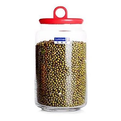 Nắp Đỏ - Hũ Thủy Tinh Luminarc Rondo Pot Smile 1000ml - Kt: (9.5 x 17) cm