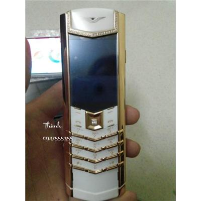 Vertu Signature S Pure White Red Gold Diamond  Vertu Signature S Pure White Red Gold Diamond