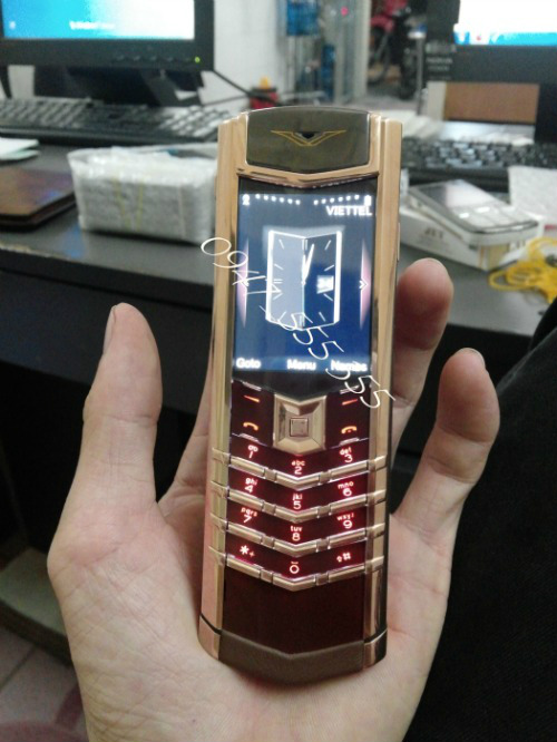 Ban Vertu Signature S Chocolate Gold Fake