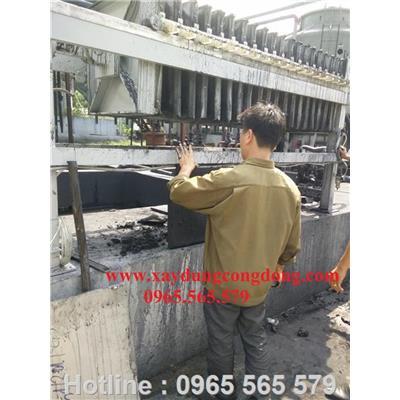 Máy ép bùn trong xử lý chất thải