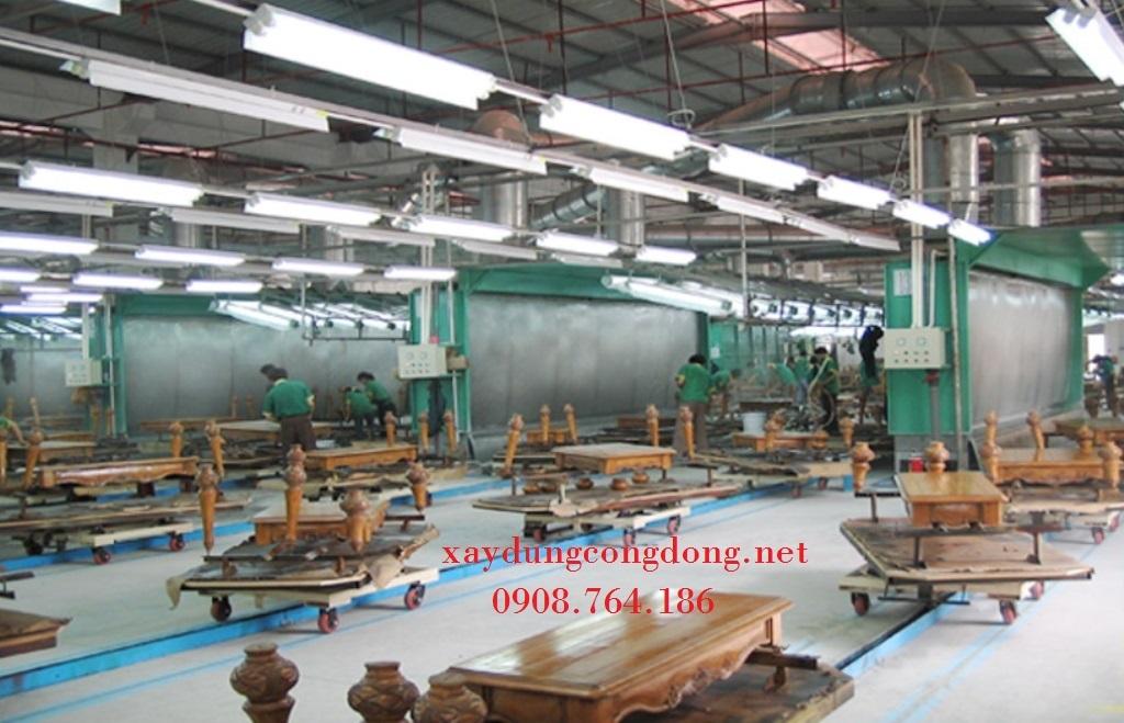 Hệ thống dây chuyền sơn gỗ