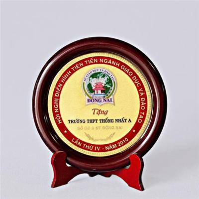 Kỷ niệm chương kim loại đồng gỗ 14