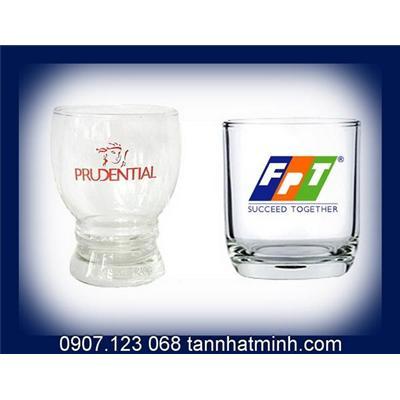 Ly thủy tinh, In Logo lên cốc FPT