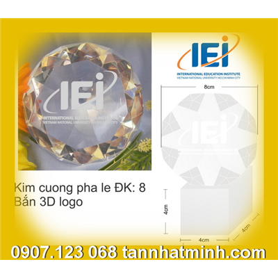 Chặn giấy Pha lê, Kim cương Pha lê - In Logo CT