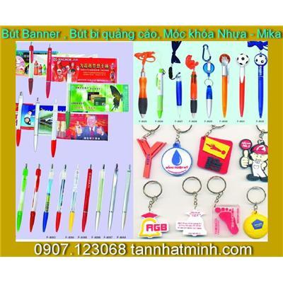Bút Banner, Bút bi, Móc khóa, Bật lửa, Quà tặng công ty