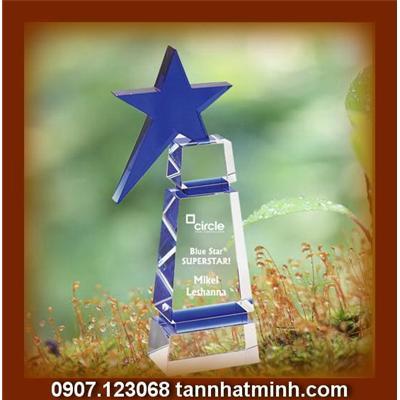 Quà tặng pha lê ngôi sao xanh