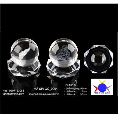 Quả cầu pha lê - Bắn laser 2D, 3D logo Công ty vào