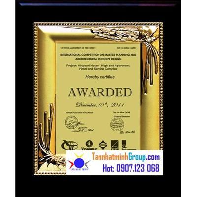Kỷ niệm chương gỗ đồng VIP 06