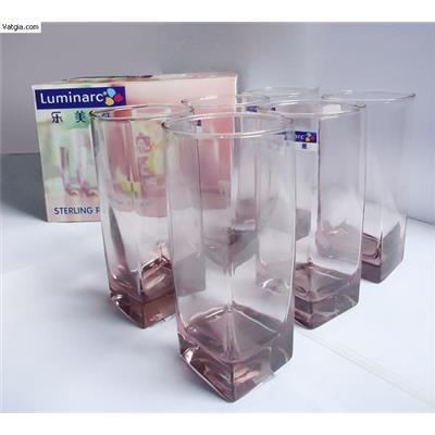 Ly thuỷ tinh luminarc - Vuông hồng cao