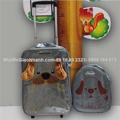 Set Vali hộp và balo đeo Cún cho bé