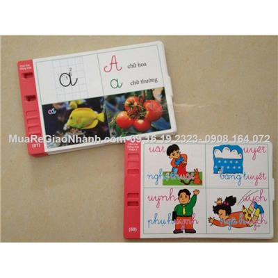 Flashcard tiếng Việt in hai mặt dạy trẻ biết đọc sớm (60 mat)