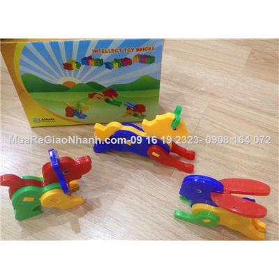 Bộ 3 xếp hình 3D intellect toy bricks
