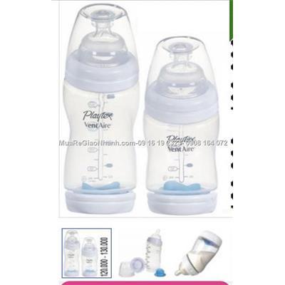 Bình sữa Playtex Vent dáng cong cổ rộng 9oz - 266ML:125k & 6oz -200ml:115k