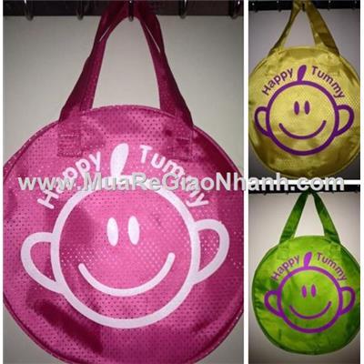 Túi xách hình tròn cho bé kiểu mặt cười đáng yêu abbott