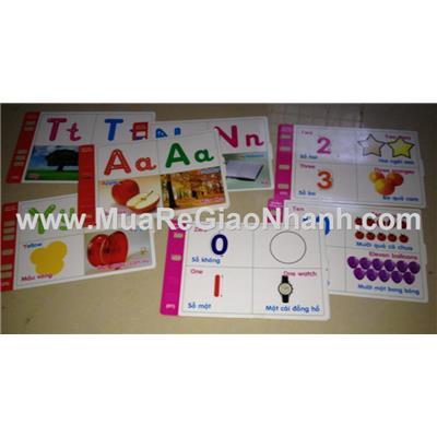 flash card song ngữ Anh- Việt số đếm & chữ cái cho bé vui học