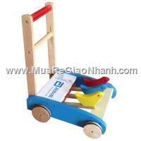 Xe tập đi gỗ có vòng ron bánh đẩy chống trượt abbott