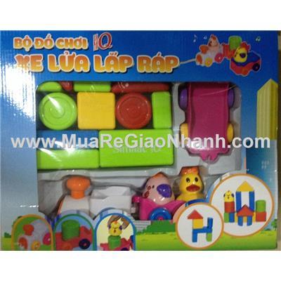 Bộ đồ chơi lắp ráp xe lửa (có nhạc)