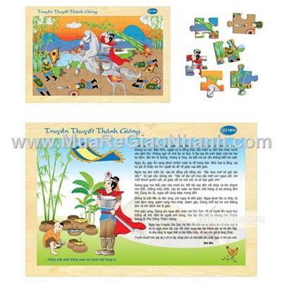 Bộ truyện tranh ghép gỗ truyền thuyết Thánh Gióng winwintoys