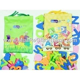 Bộ học cụ chữ cái, con số & flashcard tô màu cho bé