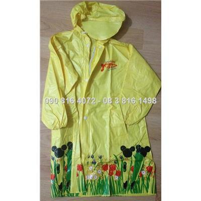 Áo mưa kiểu áo váy măng tô có dây khóa kéo cho bé 3- 6 tuổi