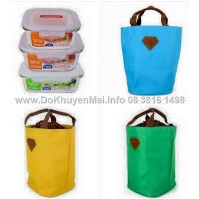 Set lunch bag Lock & Lock 750ml thủy tinh giữ nhiệt Cao câp