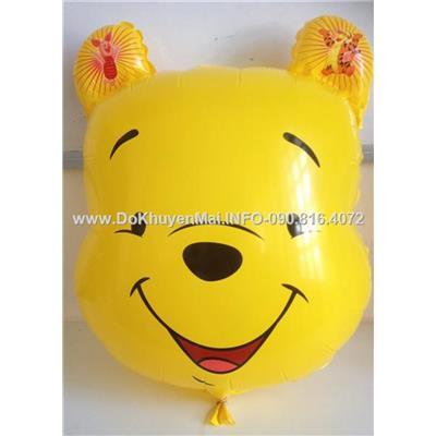 Bong bóng kiếng gấu Pooh vui vẻ