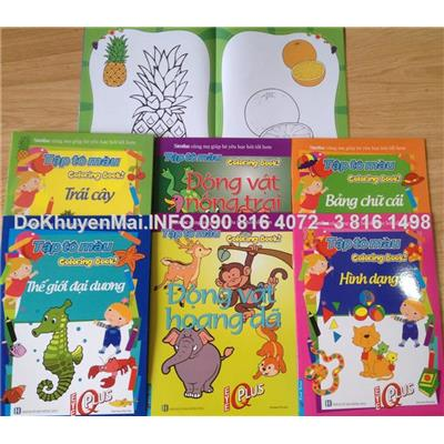 6 sách tô màu cho bé sáng tạo
